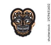 maori or samoan style mask.... | Shutterstock .eps vector #1929651602
