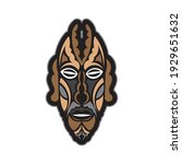 maori or samoan style mask.... | Shutterstock .eps vector #1929651632