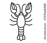 gourmet lobster icon. outline... | Shutterstock .eps vector #1929668588