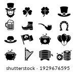 st patricks day icons. vector... | Shutterstock .eps vector #1929676595