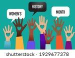 women's history month  raised... | Shutterstock .eps vector #1929677378