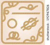 collection of rope templates...   Shutterstock . vector #192967826