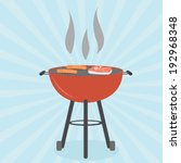 grill bbq cookout vector | Shutterstock .eps vector #192968348