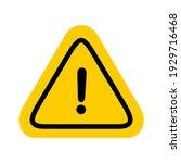 hazard warning attention sign... | Shutterstock .eps vector #1929716468