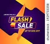 flash sale square banner for... | Shutterstock .eps vector #1929733358