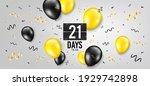 twenty one days left icon....   Shutterstock .eps vector #1929742898