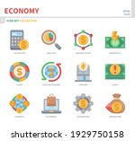 economy icon set color flat... | Shutterstock .eps vector #1929750158