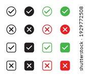 Modern Check Mark Vector Icons