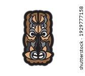 samoan style mask. polynesian... | Shutterstock .eps vector #1929777158