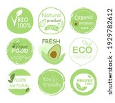 bio  organic  vegan  fresh food ... | Shutterstock .eps vector #1929782612