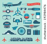 vector set  airplanes and... | Shutterstock .eps vector #192984476