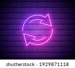 glowing neon refresh icon... | Shutterstock .eps vector #1929871118