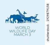 world wildlife day poster with... | Shutterstock .eps vector #1929879158
