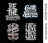 be the difference best quotes... | Shutterstock .eps vector #1929879245