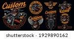 custom motorcycle vintage... | Shutterstock .eps vector #1929890162