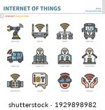 internet of things icon set... | Shutterstock .eps vector #1929898982