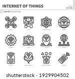 internet of things icon set ... | Shutterstock .eps vector #1929904502
