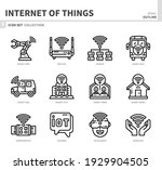 internet of things icon set ... | Shutterstock .eps vector #1929904505
