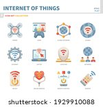 internet of things icon set... | Shutterstock .eps vector #1929910088