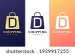 letter d logo in shopping bag....   Shutterstock .eps vector #1929917255