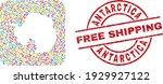 vector collage antarctica... | Shutterstock .eps vector #1929927122