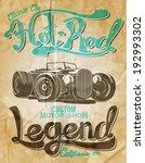 vector old school race car... | Shutterstock .eps vector #192993302