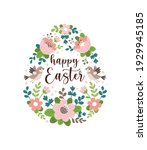 happy easter greeting card.... | Shutterstock .eps vector #1929945185