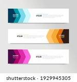 vector abstract banner design... | Shutterstock .eps vector #1929945305