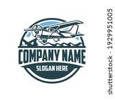 light aircraft logo. circle...   Shutterstock .eps vector #1929951005