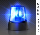 3d realistic vector blue police ... | Shutterstock .eps vector #1929951455