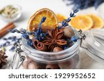 Aromatic Potpourri In Glass Jar ...
