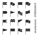 flag icons. pennant with... | Shutterstock . vector #1930016015