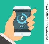 smartphone fitness tracker app  ... | Shutterstock .eps vector #1930021952