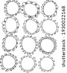 12 hand drawn doodle circle... | Shutterstock .eps vector #1930022168