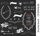 chalkboard wedding design... | Shutterstock .eps vector #193004636