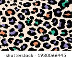 colorful leopard animal print...   Shutterstock .eps vector #1930066445
