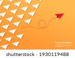 think differently concept. red... | Shutterstock .eps vector #1930119488