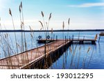 pier for pleasure and fishing... | Shutterstock . vector #193012295
