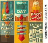 father's day posters set. flat... | Shutterstock .eps vector #193015775