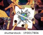 composite image of landmarks of ...   Shutterstock . vector #193017806