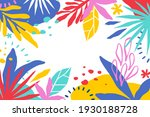 tropical background with jungle ... | Shutterstock .eps vector #1930188728