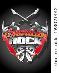 american rock tour with skulls... | Shutterstock . vector #193021442