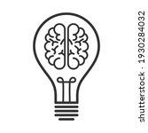 idea brain bulb innovation...   Shutterstock .eps vector #1930284032