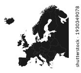 europe map with country outline ... | Shutterstock .eps vector #1930349078