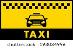 yellow taxi background with... | Shutterstock .eps vector #193034996