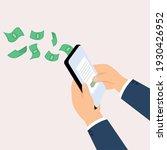 hand holding phone for transfer ... | Shutterstock .eps vector #1930426952