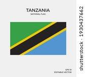 national flag of tanzania ... | Shutterstock .eps vector #1930437662