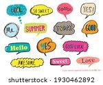 cute vector speech bubble...   Shutterstock .eps vector #1930462892