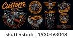 custom motorcycle vintage... | Shutterstock .eps vector #1930463048