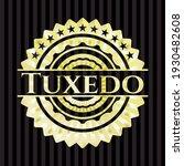 tuxedo gold emblem or badge.... | Shutterstock .eps vector #1930482608